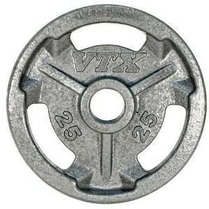 VTX Troy Barbell Olympic Weight Lifting Grip Plate 25 lb GO-025V