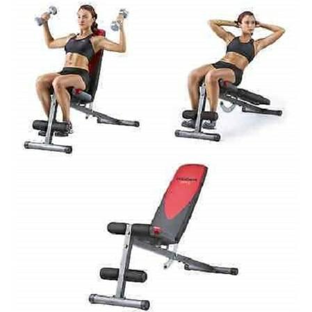 Weider Adjustable Flat In Decline Weight Bench Situp Slant Board Buy Fitness Online
