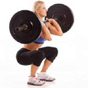 Womens Olympic Rubber Bumper CrossFit Free Weight Plates Bar Set