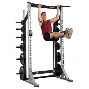 York Barbell STS Power Half Squat Rack Cage Gym 55009 Refurb