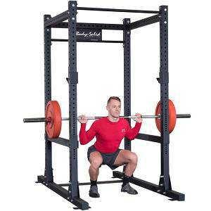 Body Solid Comercial Weight Power Squat Rack Safety Cage SPR1000