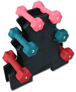 Dumbbell Dumbell Rack Vertical Storage Tree Holds 6 Dumbbells LG