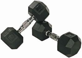 Rubber Encased Octagonal Gym Dumbell Dumbells Dumbbell Dumbbells