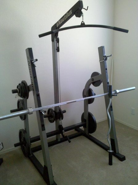 Used Nautilus Half Rack with Lat