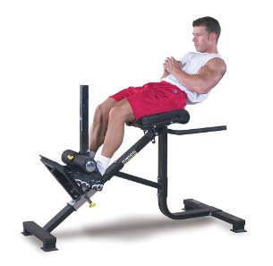 PowerTec Dual Hyperextension Back Roman Chair Ab Crunch P-HC16