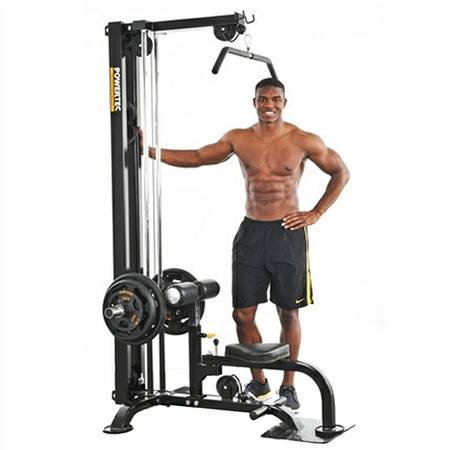 PowerTec Lat PullDown Machine Upper Lower Pulley Curl Row P-LM16