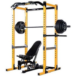 PowerTec Tec Power Squat Rack Safety Cage Utility Bench PR16UB16