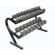 Troy Barbell VTX 2 Tier Dumbell Dumbbell Storage Rack TDR T-DR