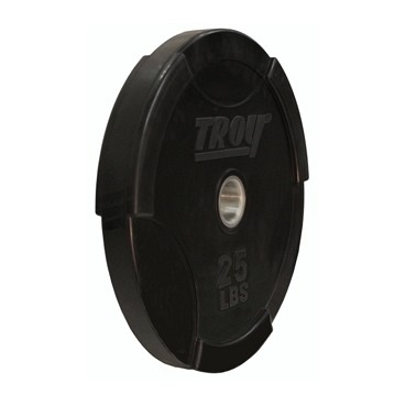 Troy Barbell Interlocking Olympic Solid Rubber Bumper Plate 25 #