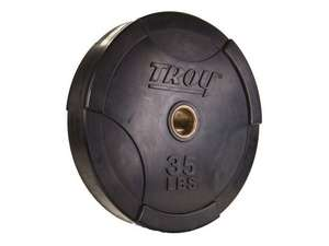 Troy Barbell Interlocking Olympic Solid Rubber Bumper Plate 35 #