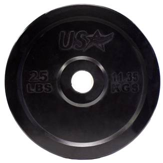 USA Barbell Olympic Rubber Bumper Free Weight Plate Plates 25 lb