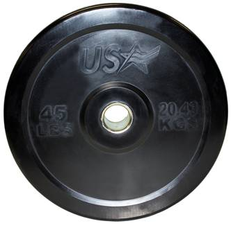 USA Barbell Olympic Rubber Bumper Free Weight Plate Plates 45 lb