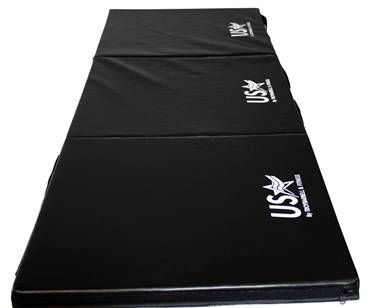 USA Exercise Mat Yoga Pilates Stretching Tumbling Tri-Fold E-MAT