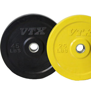 VTX Honey Bee Olympic Rubber Bumper Free Weight Plate Set 140 lb