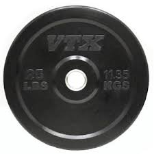 VTX Barbell Olympic Rubber Bumper Free Weight Plate Plates 25#