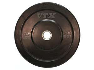 VTX Olympic Colored Rubber Bumper Free Weight Plate Plates 15 lb