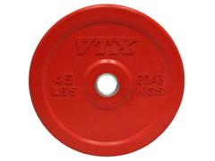 VTX Olympic Colored Rubber Bumper Free Weight Plate Plates 45 lb