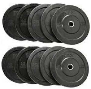 VTX Barbell Olympic Rubber Bumper Free Weight Plate Set Sets 370