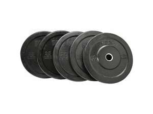 VTX Barbell Olympic Rubber Bumper Free Weight Plate Set Sets 260