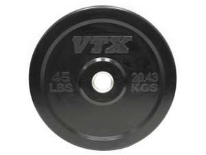VTX Barbell Olympic Rubber Bumper Free Weight Plate Plates 45#