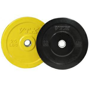 VTX Honey Bee Olympic Rubber Bumper Free Weight Plate Set 70 lb.
