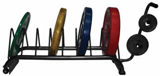 VTX Horizontal Free Weight Plate Storage Rack Rolling Cart GHBPR