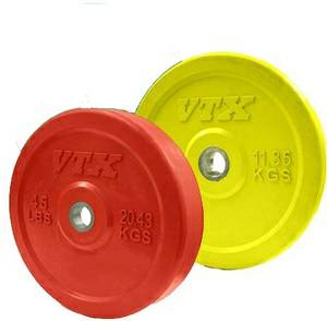 VTX Olympic Colored Rubber Bumper Free Weight Plate Set Sets 140