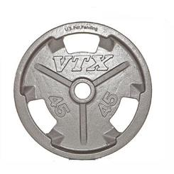 VTX Troy Barbell Olympic Weight Lifting Grip Plate 45 lb GO-045V